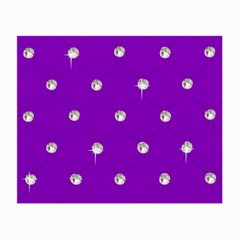 Royal Purple and Silver Bead Bling Twin-sided Glasses Cleaning Cloth