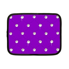 Royal Purple and Silver Bead Bling 7  Netbook Case