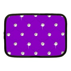 Royal Purple and Silver Bead Bling 10  Netbook Case