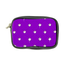 Royal Purple and Silver Bead Bling Ultra Compact Camera Case