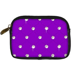 Royal Purple and Silver Bead Bling Compact Camera Case