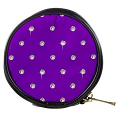 Royal Purple and Silver Bead Bling Mini Makeup Case