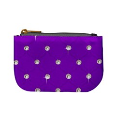 Royal Purple And Silver Bead Bling Coin Change Purse