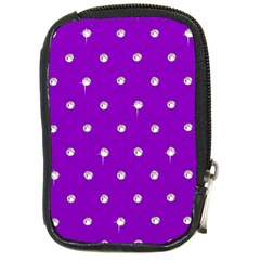 Royal Purple and Silver Bead Bling Digital Camera Case