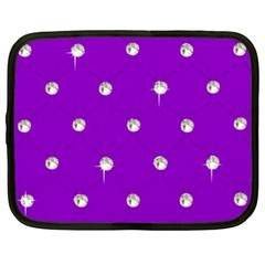 Royal Purple and Silver Bead Bling 13  Netbook Case