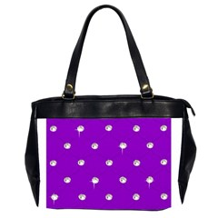 Royal Purple and Silver Bead Bling Twin-sided Oversized Handbag