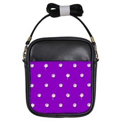 Royal Purple and Silver Bead Bling Kids  Sling Bag