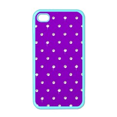 Royal Purple and Silver Bead Bling Apple iPhone 4 Case (Color)
