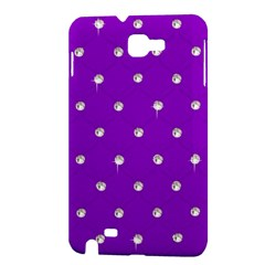 Royal Purple and Silver Bead Bling Samsung Galaxy Note Hardshell Case