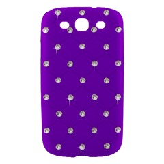 Royal Purple and Silver Bead Bling Samsung Galaxy S III Hardshell Case