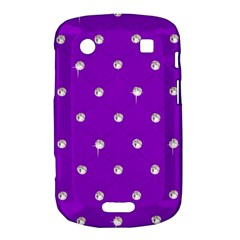 Royal Purple and Silver Bead Bling BlackBerry Bold Touch 9900 9930 Hardshell Case