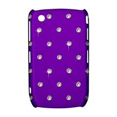 Royal Purple and Silver Bead Bling BlackBerry Curve 8520 9300 Hardshell Case