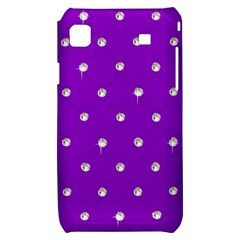 Royal Purple and Silver Bead Bling Samsung Galaxy S i9000 Hardshell Case