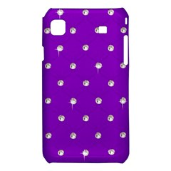Royal Purple and Silver Bead Bling Samsung Galaxy S i9008 Hardshell Case