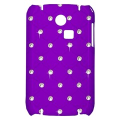 Royal Purple and Silver Bead Bling Samsung S3350 Hardshell Case