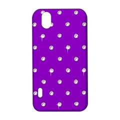 Royal Purple and Silver Bead Bling LG Optimus P970 Hardshell Case