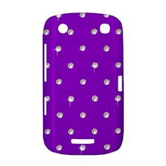 Royal Purple and Silver Bead Bling BlackBerry Curve 9380 Hardshell Case