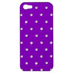 Royal Purple and Silver Bead Bling Apple iPhone 5 Hardshell Case