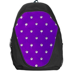 Royal Purple and Silver Bead Bling Backpack Bag
