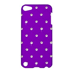 Royal Purple and Silver Bead Bling Apple iPod Touch 5 Hardshell Case
