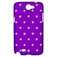 Royal Purple and Silver Bead Bling Samsung Galaxy Note 2 Hardshell Case