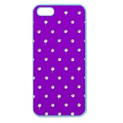Royal Purple And Silver Bead Bling Apple Seamless Iphone 5 Case (color)