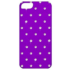 Royal Purple and Silver Bead Bling Apple iPhone 5 Classic Hardshell Case