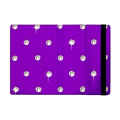 Royal Purple and Silver Bead Bling Apple iPad Mini Flip Case