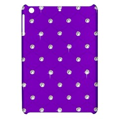 Royal Purple and Silver Bead Bling Apple iPad Mini Hardshell Case