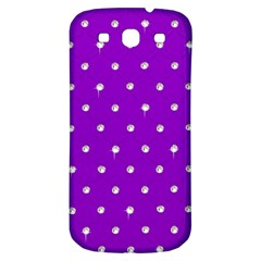 Royal Purple And Silver Bead Bling Samsung Galaxy S3 S Iii Classic Hardshell Back Case