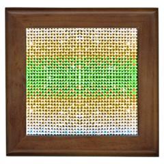 Diamond Cluster Color Bling Framed Ceramic Tile