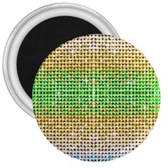 Diamond Cluster Color Bling Large Magnet (Round)