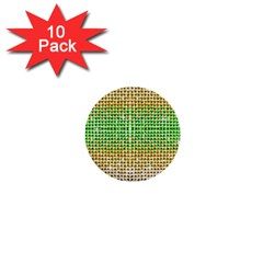 Diamond Cluster Color Bling 10 Pack Mini Button (Round)
