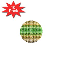 Diamond Cluster Color Bling 10 Pack Mini Magnet (Round)