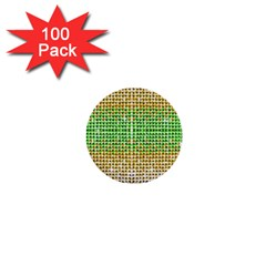 Diamond Cluster Color Bling 100 Pack Mini Button (Round)