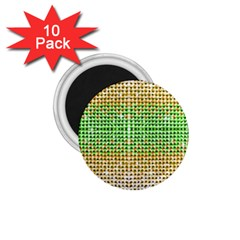 Diamond Cluster Color Bling 10 Pack Small Magnet (round)