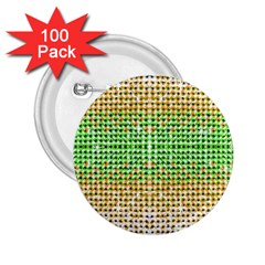Diamond Cluster Color Bling 100 Pack Regular Button (round)