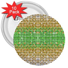 Diamond Cluster Color Bling 10 Pack Large Button (Round)