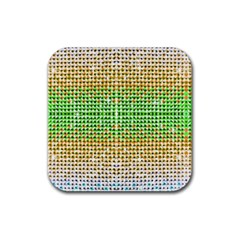 Diamond Cluster Color Bling Rubber Drinks Coaster (Square)