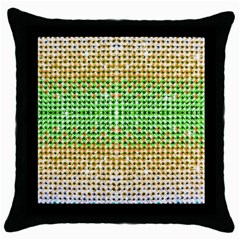 Diamond Cluster Color Bling Black Throw Pillow Case
