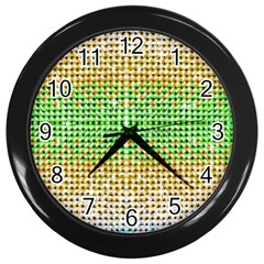 Diamond Cluster Color Bling Black Wall Clock