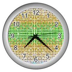 Diamond Cluster Color Bling Silver Wall Clock