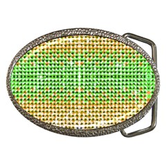 Diamond Cluster Color Bling Belt Buckle (Oval)