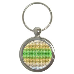 Diamond Cluster Color Bling Key Chain (round)