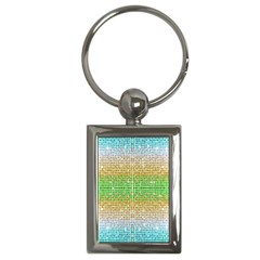 Diamond Cluster Color Bling Key Chain (Rectangle)