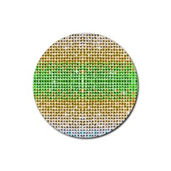 Diamond Cluster Color Bling Rubber Drinks Coaster (Round)