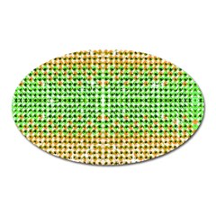 Diamond Cluster Color Bling Large Sticker Magnet (oval)