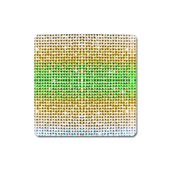 Diamond Cluster Color Bling Large Sticker Magnet (square)