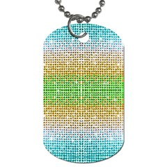 Diamond Cluster Color Bling Single Sided Dog Tag