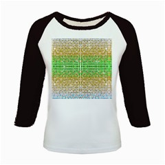 Diamond Cluster Color Bling Long Sleeve Raglan Womens'' T-shirt
